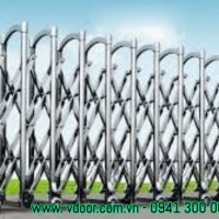 Cổng xếp inox tự động tại TPHCM